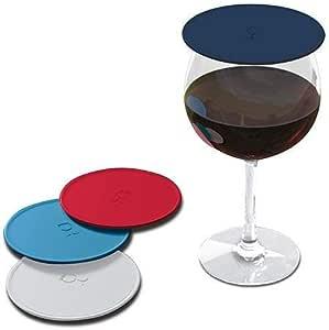 Drink Top 户外饮料套套装,温和吸入玻璃杯,防止凸起,芳香,减少溅出 航海蓝 1010-amer