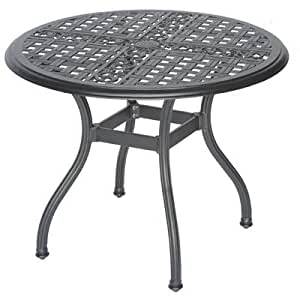 Meadow Décor 2711-CH-58 2700 系列圆形柜台高桌子,36 英寸,胡桃木