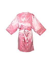 Cathy's Concepts Personalized Satin Robe, 1X-Large/2X-Large, Monogrammed Letter C, Light Pink