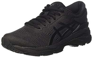 Asics 女式 Gel-Kayano 24 跑步鞋 Black (Black/Black/Carbon 9090) 3.5 UK
