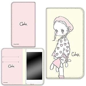 caho 保护套双面印花翻盖毛绒玩具和小女孩手机保护壳翻盖式适用于所有机型  ぬいぐるみと少女D 4_ AQUOS Xx2 mini 503SH