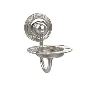 Allied Brass Prestige Regal 平底杯和牙刷架 亮灰色(Polished Nickel) 013895315357