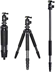 Rollei 祿來 Rock Solid T7S 碳素三腳架,帶球頭,相機三腳架,30 千克 承載力,非常適合旅行和自然攝影,適用于單反相機(DSLR)和 單電相機(DSLM)22651  Beta Mark II Ro