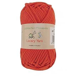 笨重蕾丝纱线适用于工艺品、毛衣、毛毯 100g - 2 或 4 层 - * 纯棉 Color 407 - Burnt Orange 4 Skeins 6955114967890a
