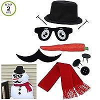 Evelots 经典雪人套装-酷炫的装扮-我们*的酷胡子 Snowman Kit 2 Snowman Kits 多色