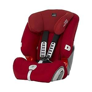 Britax 宝得适汽车儿童安全座椅Evolva1-2-3 plus超级百变王 热情红(英国品牌,香港直邮)适合9-36KG,约9个月-12岁,侧翼宽度和头枕高度可调,安全响声系统,自带申拉式水杯架(包邮包税)
