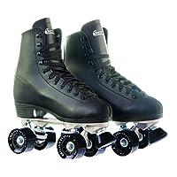 Chicago 男士皮革内衬滑冰鞋,黑色