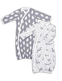 2 件 * *棉和服男孩女孩长袍,易更换按扣,内置手套、羽毛和森林动物