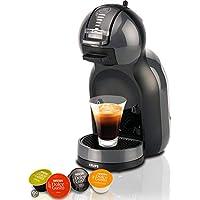 Krups Nescafé Dolce Gusto Mini Me KP1208膠囊咖啡機(適用于冷熱飲料、15巴泵壓、自動定量加水、Flow-Stop技術、0.8升水箱)煤黑色/灰色