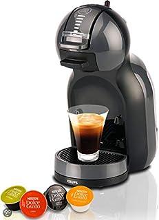 Krups Nescafé Dolce Gusto Mini Me KP1208胶囊咖啡机(适用于冷热饮料、15巴泵压、自动定量加水、Flow-Stop技术、0.8升水箱)煤黑色/灰色