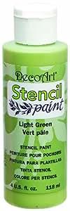 DecoArt SP513-10 Stencil Paint, 4-Ounce, Light Green