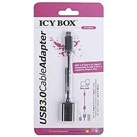 Icy Box IB-USB 3.0 适配器(类型 -c 公头到女性,USB 3.1 到 USB 3.0 适配器)60027 Cable Adapter