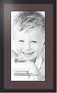 Art to Frames 双-多衬垫-670-776/89-FRBW26079 拼贴照片框双衬垫带 1-30x24 的开口和缎面黑边框