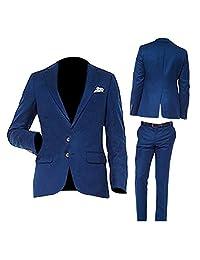 NMFashions 深青色宽斜纹蓝色两件套
