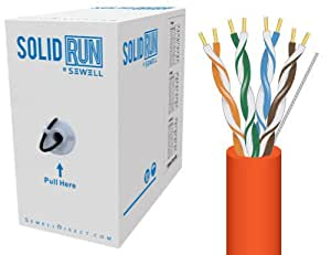 Sewell Direct SW-29875-509 SolidRun by Sewell Cat5e Bulk Cable, 500-Feet, Orange