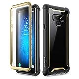 三星 Galaxy Note 9 手机壳,i-Blason [Ares 系列]全机身坚固透明防撞保护套带内置屏幕保护膜适用于三星 Galaxy Note 9 2018 版本 黑色/金色
