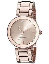 Anne Klein Women's AK-1362RGRG Rose-Gold Stainless-Steel Analog Quartz Fashion Watch