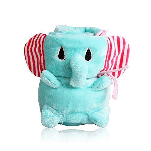 英国zazababy Jiajia赤ちゃんサンゴベルベット赤ちゃんキルトエアコンは春と秋と冬の肥厚新生児キルト毛布赤ちゃん用品夏の薄いセクション襁褓バッグタオル(大きな象)