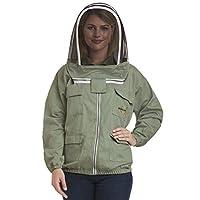 Natural Apiary - Apiarist Beekeeping Jacket - 1 x 非易燃围栏面纱 - 专业和初学者提供*保护 中 NA-BKJG-MD