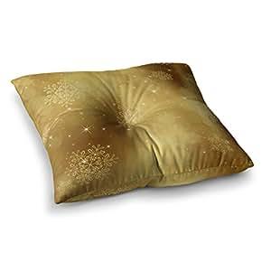 "KESS InHouse Snap Studio""Golden Radiance""黄色方形地板枕 多种颜色 23"" x 23"" SS1008ASF01"