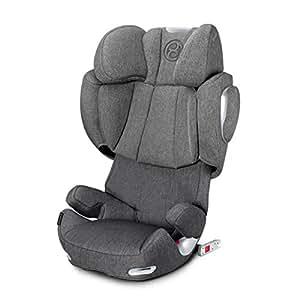 香港进口亚太版 德国CYBEX 赛百斯 儿童汽车安全座椅 Solution Q3 fix Plus 曼哈顿灰