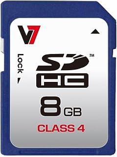 V7 8GB SDHC Class 4 Flash Memory Card (VASDH8GCL4R-1N)