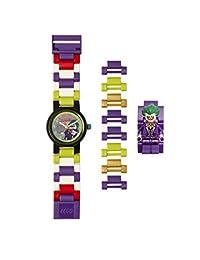 乐高蝙蝠侠电影 8020851 小丑儿童公仔链接可搭建手表 - 紫色/绿色 - 塑料 √ 25mm 表壳直径— 模拟石英 — 男孩女孩 — 官方