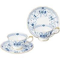 Narumi 鸣海 Milano系列 茶杯茶碟套装 蓝色 210cc 两组 茶 日本制 9682-21734