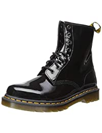 Dr.Martens 马丁大夫 女式 1460 漆皮军靴,Black Patent Lamper,5 UK (US Women's 7 M)