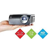 AAXA S2 迷你 LED 投影機,USBC 智能手機筆記本電腦鏡像,6 小時內置電池,720p 高清原生分辨率(支持 1080p)便攜式投影儀,鍵盤,HDMI,USB,車載媒體播放器,DLP