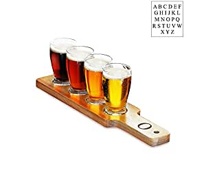 Personalized Beer Flight Sampler 透明 Letter - O