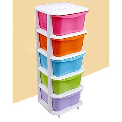 咖迪 塑料多层抽屉式收纳柜YC-26 (5层, 彩色) 亚马逊99元包邮 (领优惠码149-50)