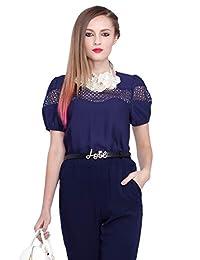 Five Plus 女式 气质镂空刺绣提花宽松短袖衬衫 22152012110