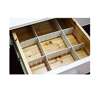 6 件可调节夹板抽屉分隔隔层储物桌组织衣柜大学宿舍