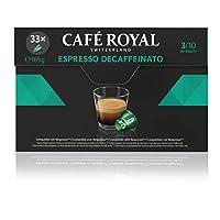 Café Royal Espresso Decaffeinato 33 Nespresso kompatible Kapseln, 1er Pack (1 x 33 Kaffeekapseln)