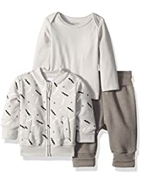 Hanes Ultimate Baby Flexy 慢跑裤,长袖圆领和羊毛外套