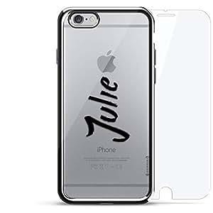 镀铬系列 360 套装:设计师手机壳 + 钢化玻璃 适用于 iPhone 6/6s PlusLUX-I6PLCRM360-NMJULIE1 NAME: JULIE, HAND-WRITTEN STYLE 银色