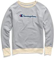 Champion 女式 Powerblend 男友风 圆领运动衫