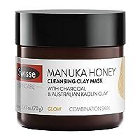 Swisse 天然護膚 麥盧卡蜂蜜澳大利亞高嶺土粘土面膜| 混合性皮膚| 清潔,凈化和滋潤| 木炭,挪威海帶和紅藻以及蘆薈提取物| 2.47盎司(70g)