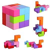 磁性积木玩具磁铁构造套件儿童玩耍堆叠游戏,带磁块和棍
