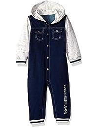 Calvin Klein 婴儿男孩连体服  Indigo Blue/Oatmeal 24M