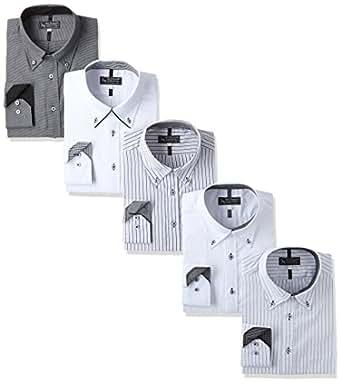( ベルーナ ) Belluna ( 5片套装 ) 定型独特设计衬衫5件装  白色 日本 袖丈短め-3L-(日本サイズ3L相当)