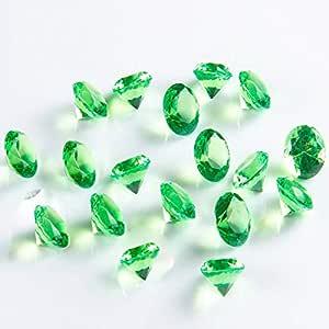 Briliant Shop 20mm 丙烯酸彩色人造圆形钻石水晶宝石 适用于桌子散布、花瓶填料、活动、婚礼、艺术和工艺品(100 件) *