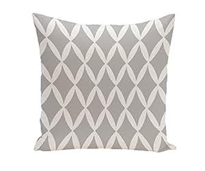 E By Design PG-N1A-Classic_Gray-20 几何装饰枕,50.8 cm,经典灰色