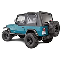 Whitco 黑色牛仔布 Jeep 柔软上衣 88-95 Jeep Wrangler 35111137