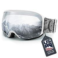 Wildhorn Cristo 滑雪護目鏡 - 美國滑雪隊官方供應商 - 男士、女士和青少年滑雪鏡