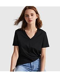 美国 专柜正品 LyCARLLO POLO 女士T恤 100% 纯棉 U领 V领