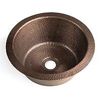 Monarch Abode 17093 纯铜手工锤锻玻璃杯双安装水槽 纯铜 17096