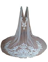婚礼披肩蕾丝新娘面纱贴花新娘包巾大教堂长度婚礼披肩