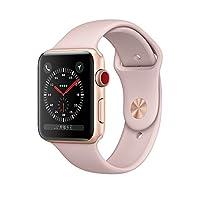 Apple Watch Series 3 智能手表 38mm GPS + 蜂窝网络 金色铝金属表壳 粉砂色运动型表带 MQQG2CH/A